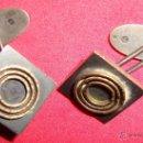 Antigüedades: INTERESANTE GEMELOS ORO Y PLATA CON PUNZON. Lote 43775808