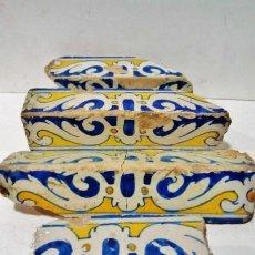 Antigüedades: 4 ALIZARES DE TALAVERA, S. XVI. ESMALTADOS EN BLANCO, AZUL Y AMARILLO. DETERIOROS DE LA ÉPOCA. . Lote 43776946