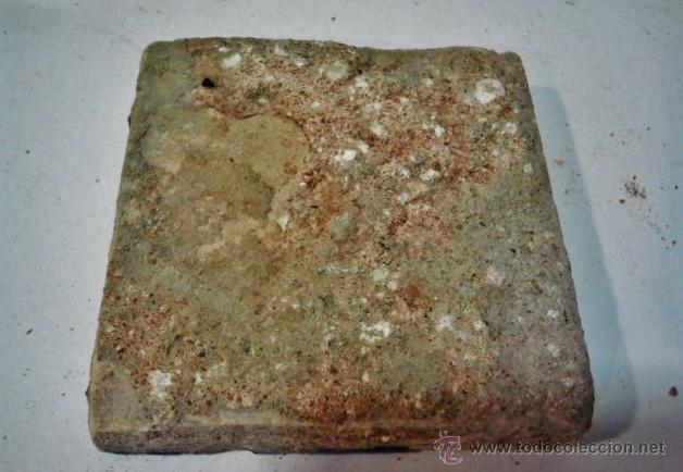 Antigüedades: 24 olambrillas en forma de estrella de 8 puntas. Talavera s. XVI. Esmalte en blanco, azul y amarillo - Foto 4 - 43776978