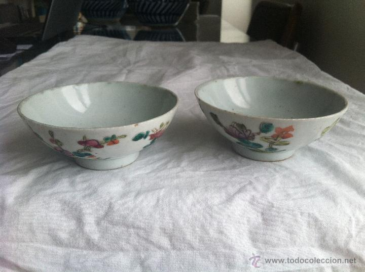 PAREJA DE CUENCOS DE PORCELANA CHINA (Antigüedades - Porcelanas y Cerámicas - China)