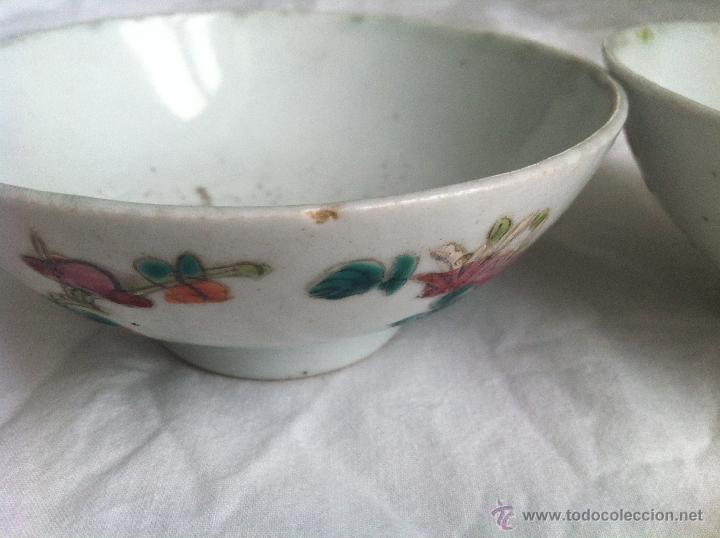 Antigüedades: pareja de cuencos de porcelana china - Foto 2 - 43781224