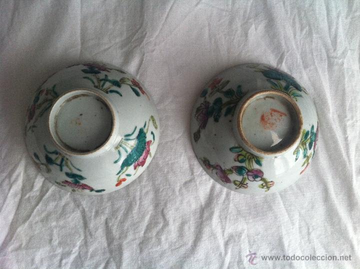 Antigüedades: pareja de cuencos de porcelana china - Foto 5 - 43781224