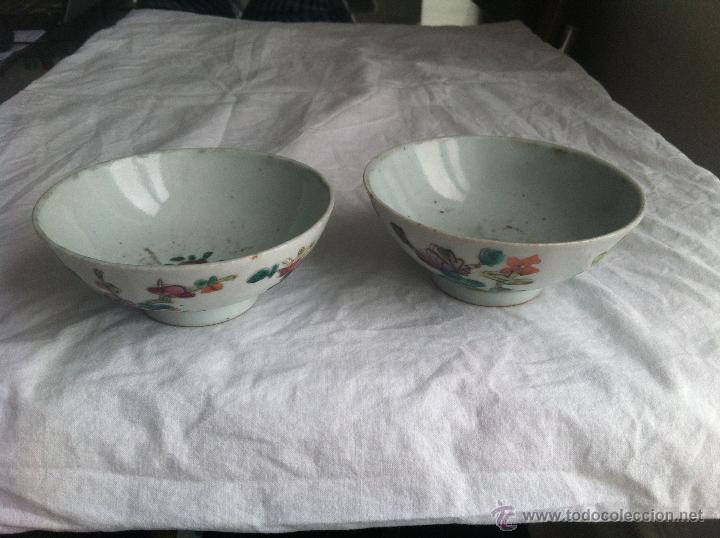 Antigüedades: pareja de cuencos de porcelana china - Foto 7 - 43781224