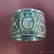 Antigüedades: SERVILLETERO REPUJADO ALPACA PLATEADA. Lote 43785798