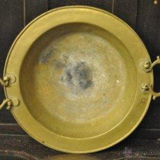 Antigüedades: ANTIGUO BRASERO DE LATON CON PALETA. Lote 43791365