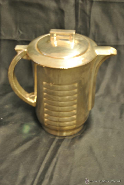 Antigüedades: JUEGO DE CAFE Y TE DE PORCELANA CON BAÑO DE PLATA - Foto 3 - 43791772