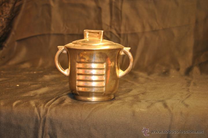 Antigüedades: JUEGO DE CAFE Y TE DE PORCELANA CON BAÑO DE PLATA - Foto 4 - 43791772