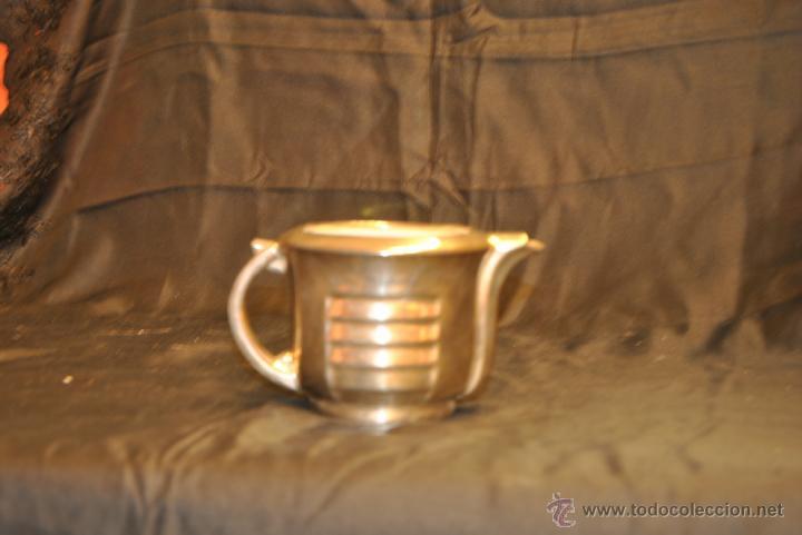 Antigüedades: JUEGO DE CAFE Y TE DE PORCELANA CON BAÑO DE PLATA - Foto 5 - 43791772