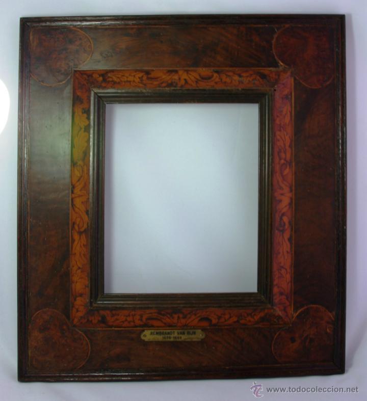 marco de caoba con placa grabada con el nombre - Comprar Marcos ...