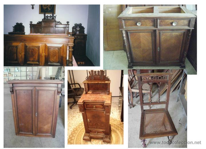 Lote de muebles antiguos estilo alfonsino del a comprar armarios antiguos en todocoleccion - Muebles estilo antiguo ...