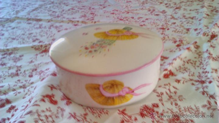 Antigüedades: Precioso Joyero de porcelana Limoges France.Pintado a mano por Elit 96 - Foto 2 - 43823165