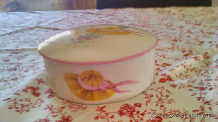 Antigüedades: Precioso Joyero de porcelana Limoges France.Pintado a mano por Elit 96 - Foto 3 - 43823165