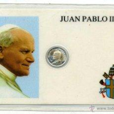 Antigüedades: MEDALLA PLATA DE JUAN PABLO II, ANVERSO CON VIAJE A ESPAÑA 1981. Lote 43823281