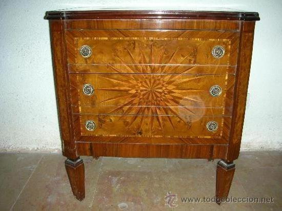 Comoda peque a o mesita de noche muebles comprar c modas antiguas en todocoleccion 27201168 - Mesita noche pequena ...