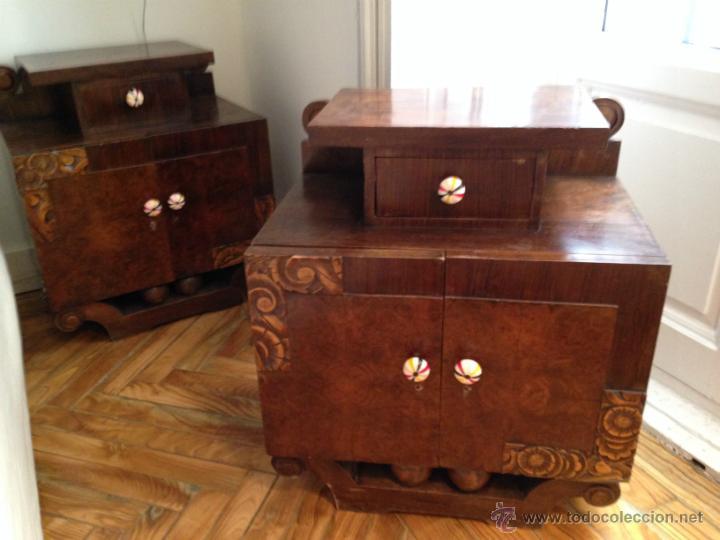 Pareja de mesillas de noche mesas de dormitorio vendido for Ejemplo de dormitorio deco