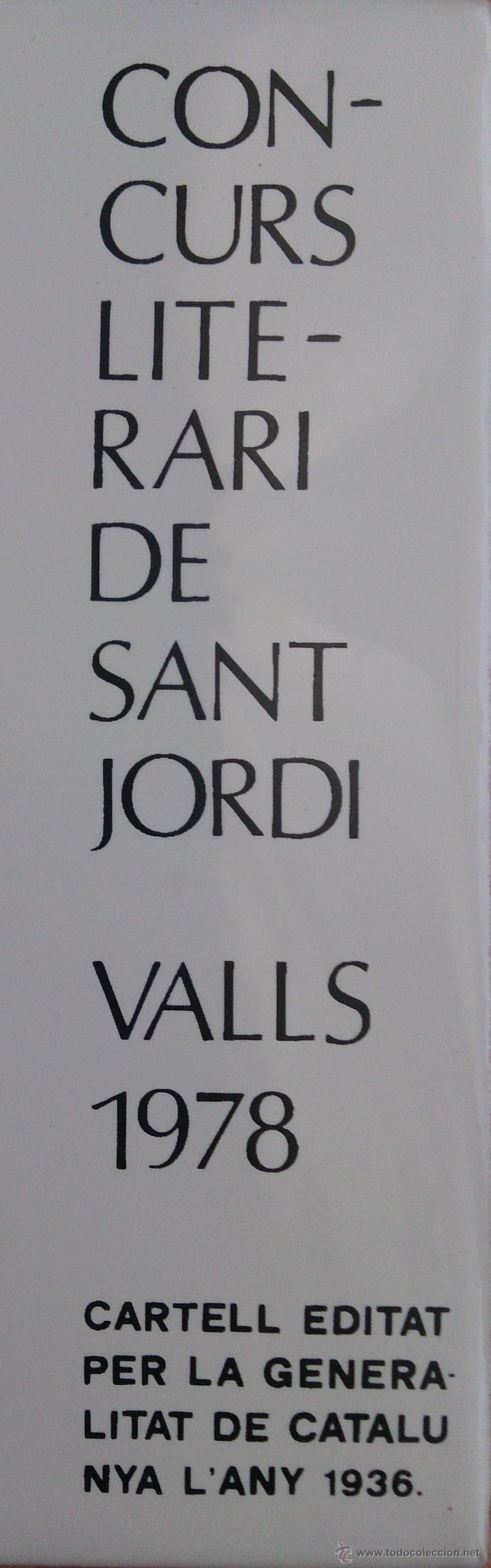 Antigüedades: Antiguo azulejo ( ESCOLA NOVA POBLÉ LLIURE ), concurso literario de Sant Jordi 1978, cartel de 1936 - Foto 4 - 43848071