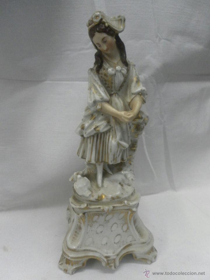 Antigüedades: Pareja figuras porcelana españolas. Época Isabelina - Foto 9 - 43848208