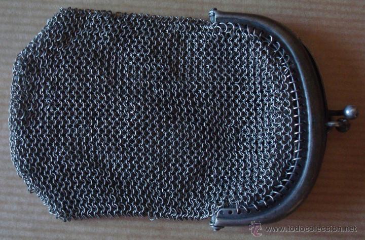 Antigüedades: MONEDERO DE MALLA EN PLATA 800 - Foto 3 - 43850827