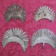 Antigüedades: LOTE DE CUATRO CORONAS DE METAL ANTIGUAS. CORONA SANTO O VIRGEN.. Lote 43862127