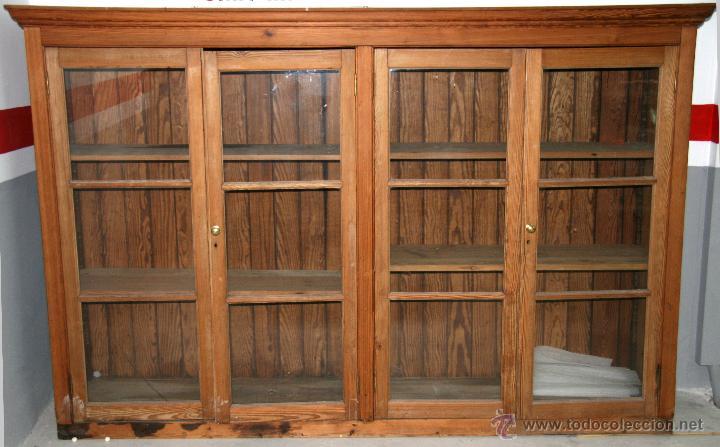 Antigua vitrina de madera inglesa comprar vitrinas - Vitrinas de cristal de segunda mano ...