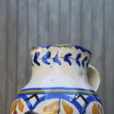 Antigüedades: ANTIGUA JARRA DE TALAVERA. SIGLO XIX. Lote 43874390