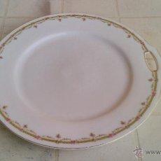 Antigüedades - Plato tartero de porcelana P T bavaria germany .Firmado - 43876280