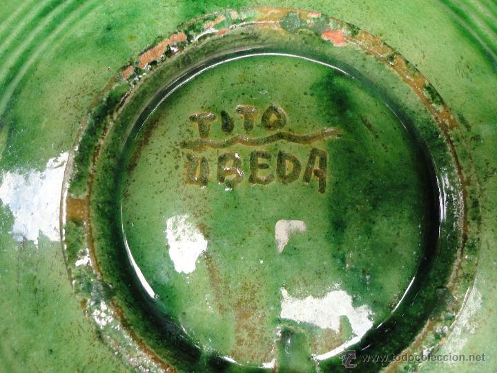 Antigüedades: Alfarería andaluza: Plato de Tito de Ubeda - Foto 4 - 43878036