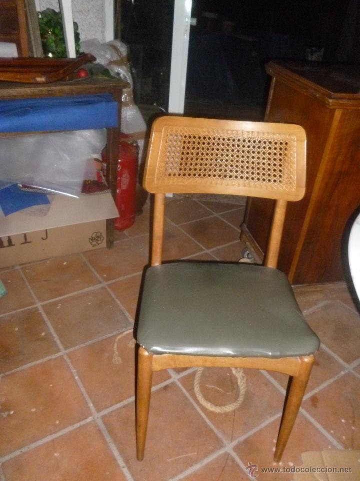 Antigüedades: JUEGO CUATRO SILLAS ESTILO DANÉS - Foto 2 - 43882721
