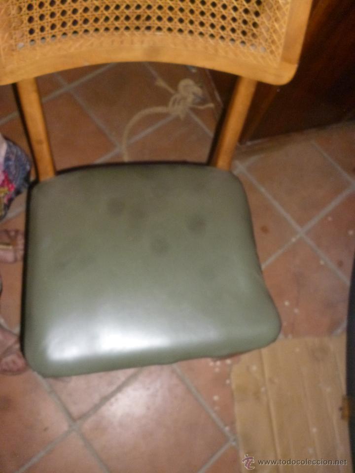 Antigüedades: JUEGO CUATRO SILLAS ESTILO DANÉS - Foto 3 - 43882721