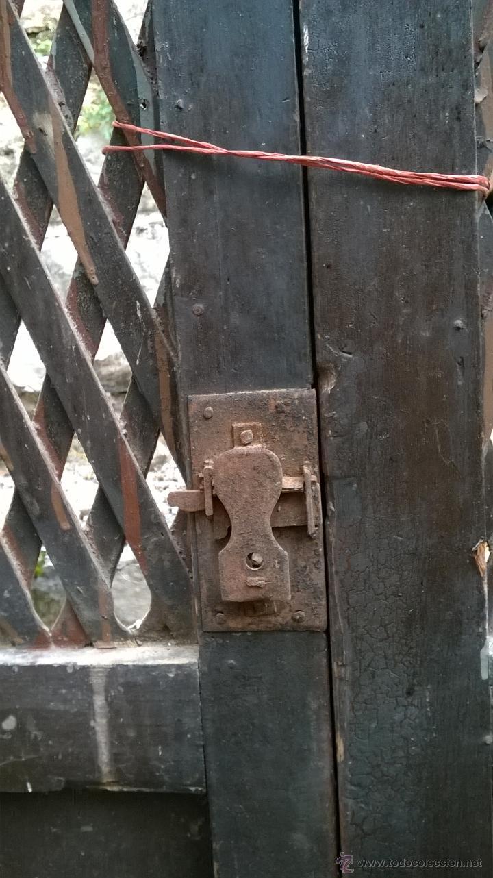 Antigüedades: ALACENA ANTIGUA DE OBRA CON MARCO ANCHO 92 LARGO 1.41 -100 AÑOS - Foto 3 - 27129327