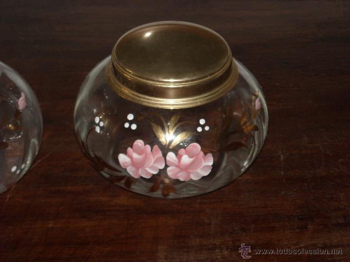 Antigüedades: Dos frasco de tocador - Foto 4 - 43892049