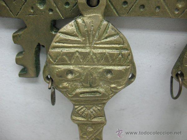 Antigüedades: Adorno decorativo maya para cocina con cuchara tenedor y cuchillo - Foto 3 - 43902662