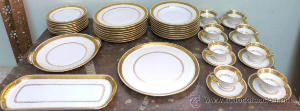 Antigua vajilla de limoges porcelana y oro comprar for Vajilla precio