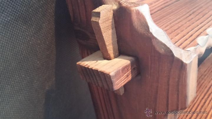 Antigüedades: Dos repisas de madera antiguas, en madera madera, bien conservadas - Foto 10 - 43921546