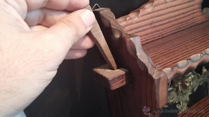 Antigüedades: Dos repisas de madera antiguas, en madera madera, bien conservadas - Foto 11 - 43921546