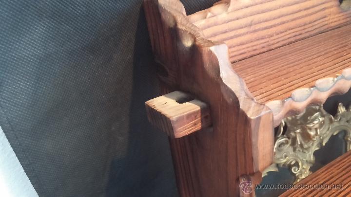 Antigüedades: Dos repisas de madera antiguas, en madera madera, bien conservadas - Foto 12 - 43921546