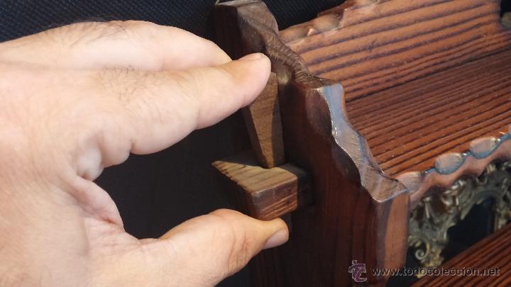 Antigüedades: Dos repisas de madera antiguas, en madera madera, bien conservadas - Foto 13 - 43921546
