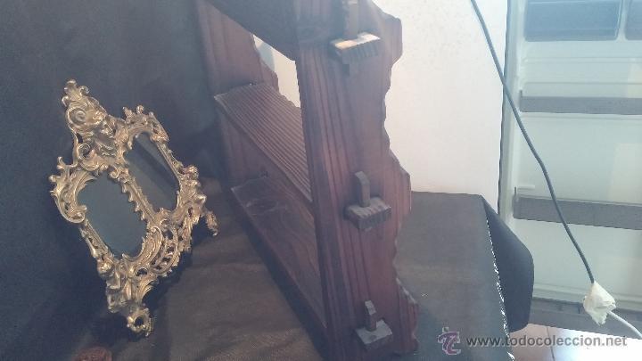 Antigüedades: Dos repisas de madera antiguas, en madera madera, bien conservadas - Foto 16 - 43921546