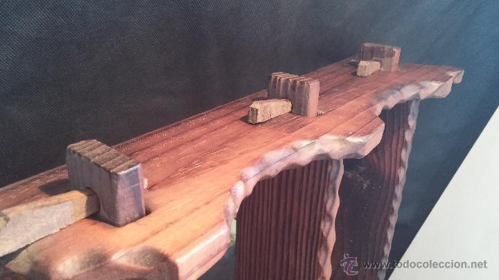 Antigüedades: Dos repisas de madera antiguas, en madera madera, bien conservadas - Foto 17 - 43921546