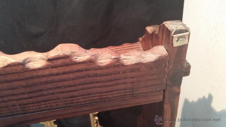 Antigüedades: Dos repisas de madera antiguas, en madera madera, bien conservadas - Foto 18 - 43921546