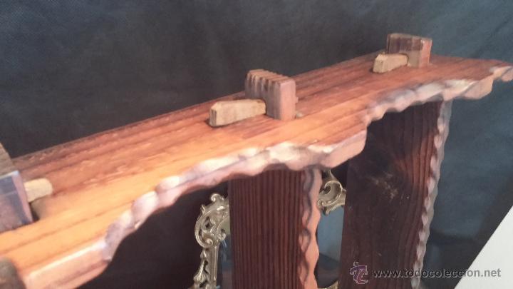 Antigüedades: Dos repisas de madera antiguas, en madera madera, bien conservadas - Foto 19 - 43921546