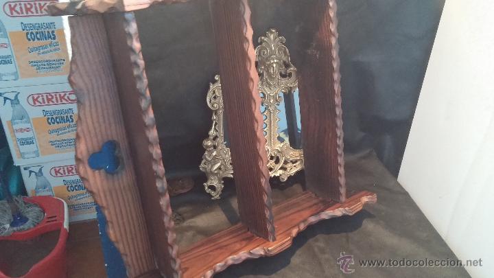 Antigüedades: Dos repisas de madera antiguas, en madera madera, bien conservadas - Foto 21 - 43921546