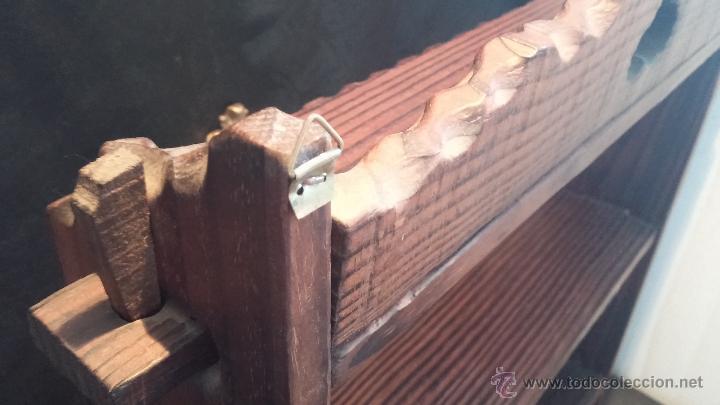 Antigüedades: Dos repisas de madera antiguas, en madera madera, bien conservadas - Foto 22 - 43921546