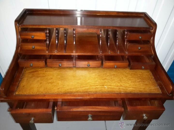 Subastas Muebles Antiguos Barcelona : Buró escritorio secreter madera maciza comprar