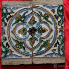 Antigüedades: PAREJA DE AZULEJOS DE ARISTA TRIANA S.XVI. Lote 43934564