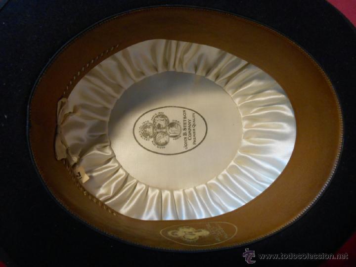 Antigüedades: IMPECABLE ANTIGUO SOMBRERO TIPO BOMBIN NEGRO INGLES CON CAJA - PPOS SIGLO XX - - Foto 4 - 43935326