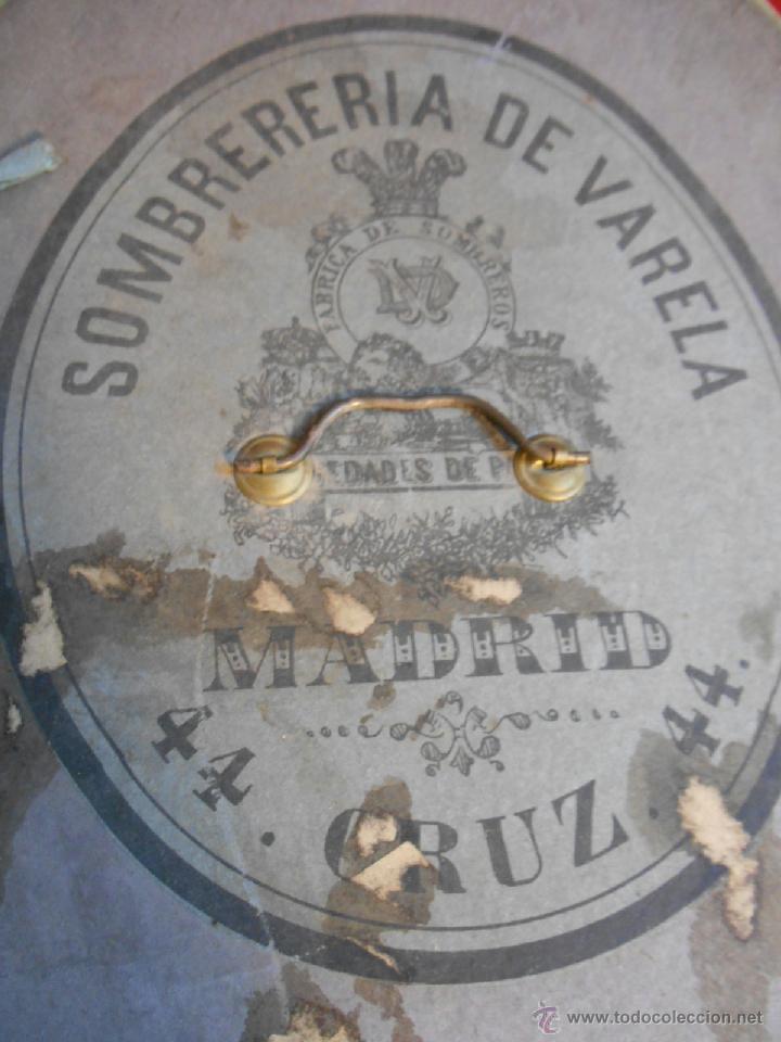 Antigüedades: IMPECABLE ANTIGUO SOMBRERO TIPO BOMBIN NEGRO INGLES CON CAJA - PPOS SIGLO XX - - Foto 9 - 43935326