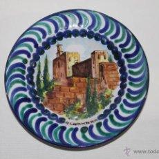 Antigüedades: PLATO EN CERÁMICA DE FAJALAUZA (GRANADA) - ALHAMBRA - PRIMERA MITAD S.XX. Lote 43936538