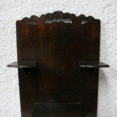 Antigüedades: BONITA REPISA O ESTANTERÍA ANTIGUA. S.XIX. CAOBA. CON CAJÓN.. Lote 43951529