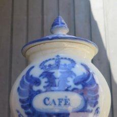 Antigüedades: ANTIGUO RECIPIENTE O TARRO PARA CAFE DE RUIZ DE LUNA. TALAVERA. Lote 43960731